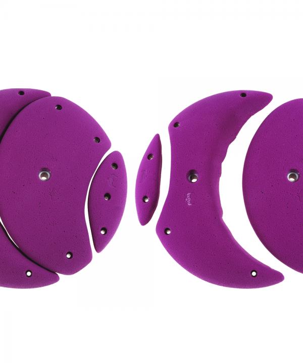 Drugie koło z zestawu Tokyo 2.0 składające się z 4 chwytów o kształtach zbliżonych do półksiężyców.