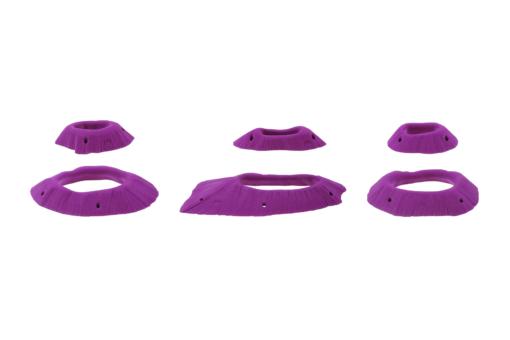 Sześć mniejszych chwytów w kształcie owalnych dziur z zestawu Apocalyptic.