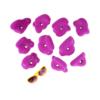 Chwyty wspinaczkowe - małe klamy o obłych kształtach.